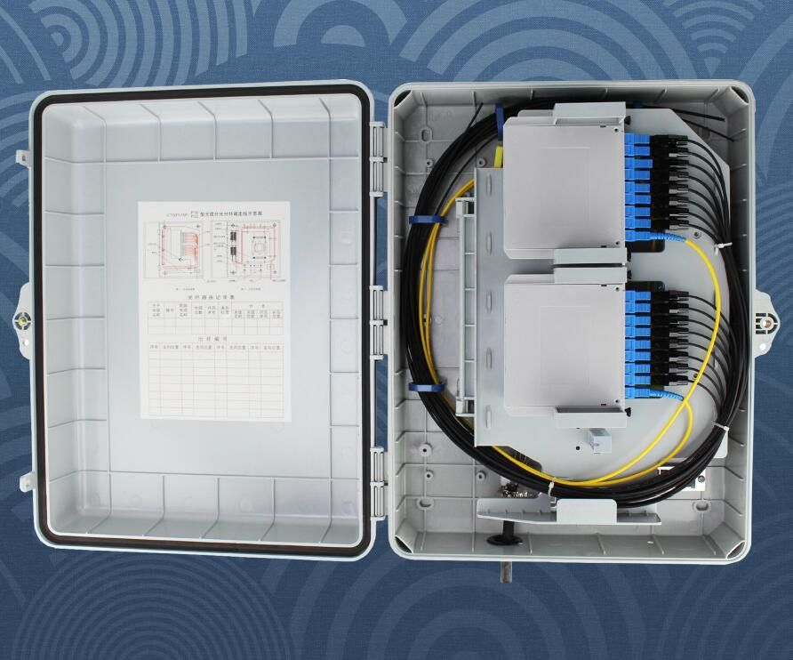 Fiber Distribution Box for 32 fibers used in FTTx projects